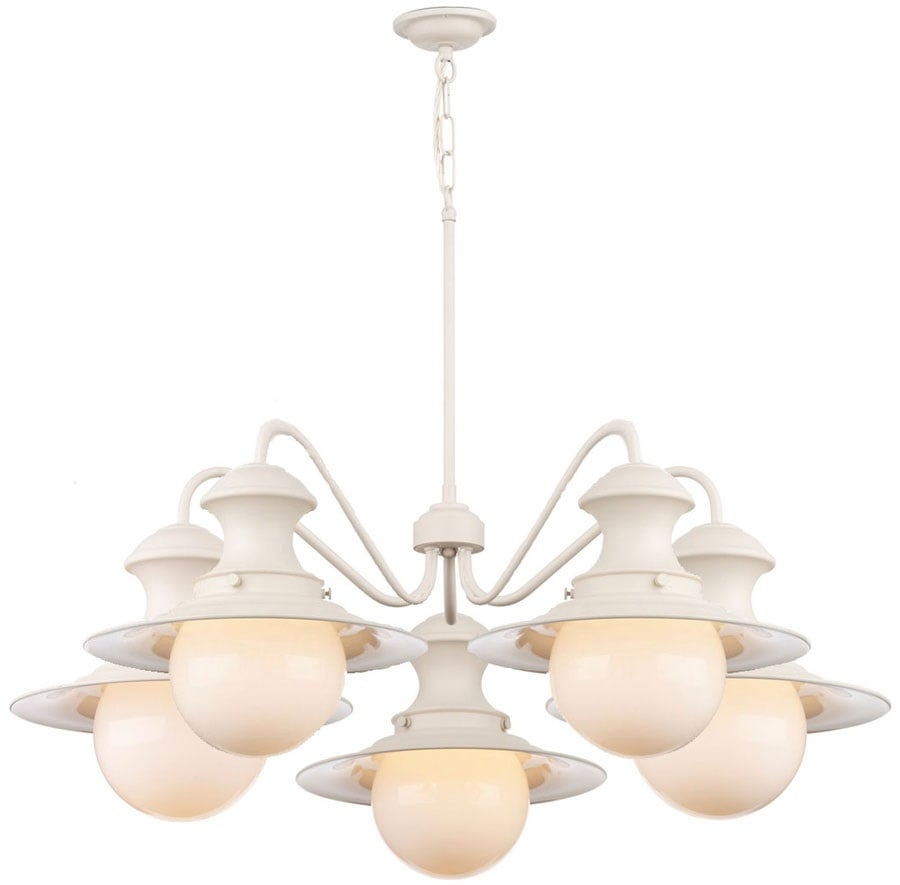 David Hunt Lighting EP5433 Station 5 Light Pendant in Cotswold Cream