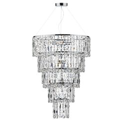 ESC0650 Escala 6 Light Pendant in Polished Chrome.