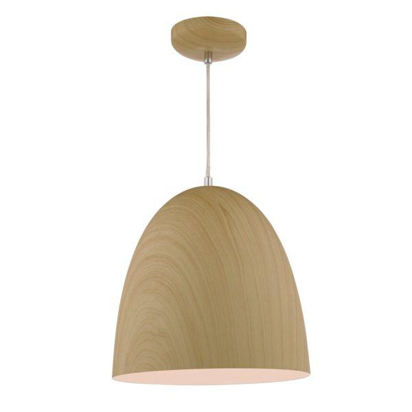 Dar GLY0143 Glyn 1 Light Pendantin in Wood effect