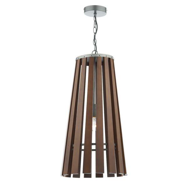 Dar MUL0147 Mullion 1 Light Pendant in Wood