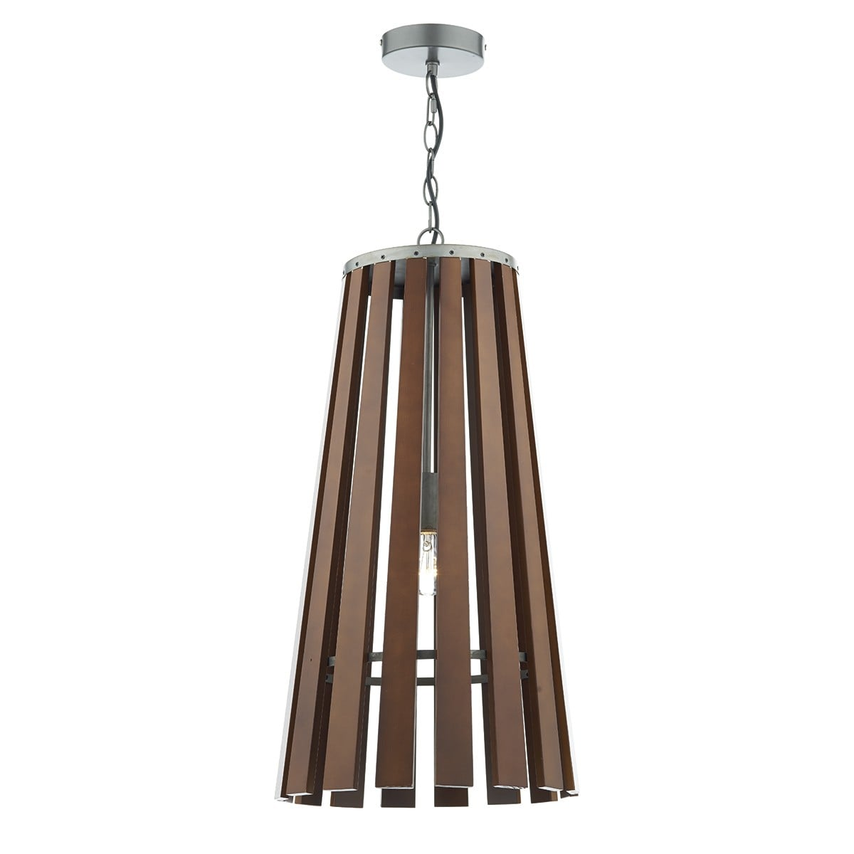 Dar MUL0147 Mullion 1 Light Pendant in Wood