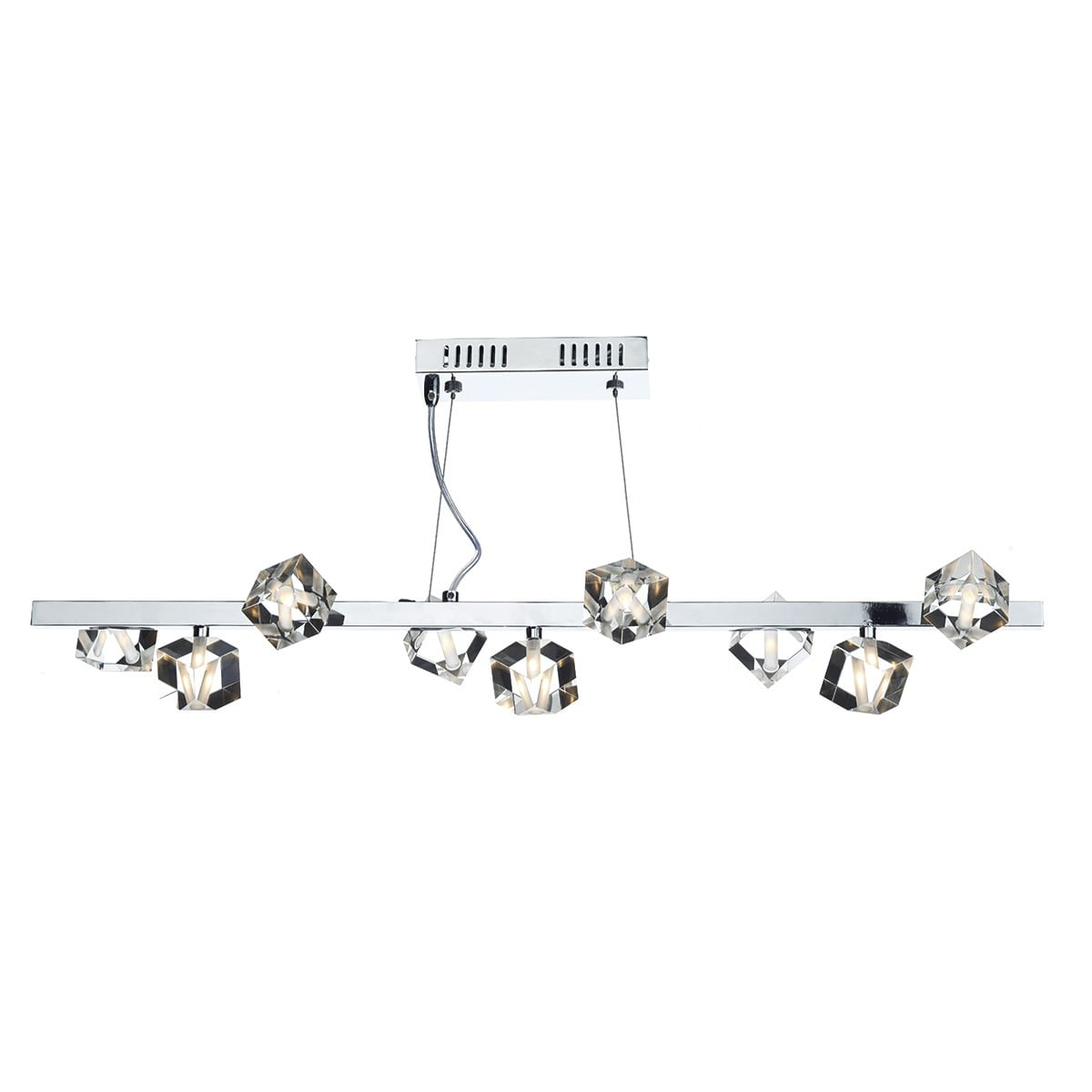 Dar UNI1350 Union 9 Light Bar pendant in Polished Chrome