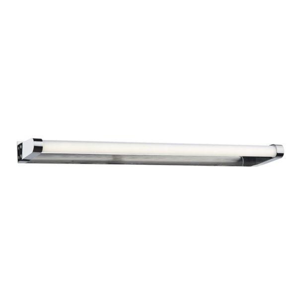 Dar FLU0750 Flute LED Bathroom Wall Light in Polished Chrome & White