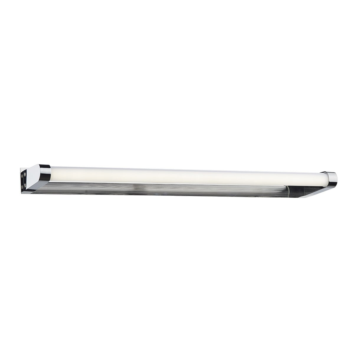 Dar FLU0750 Flute LED Bathroom Wall Light in Polished Chrome & White