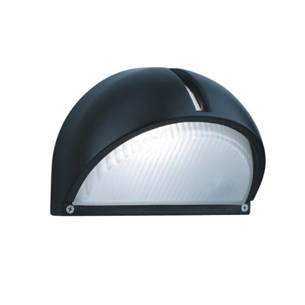 130 Black Aluminium Half Moon Outdoor Light