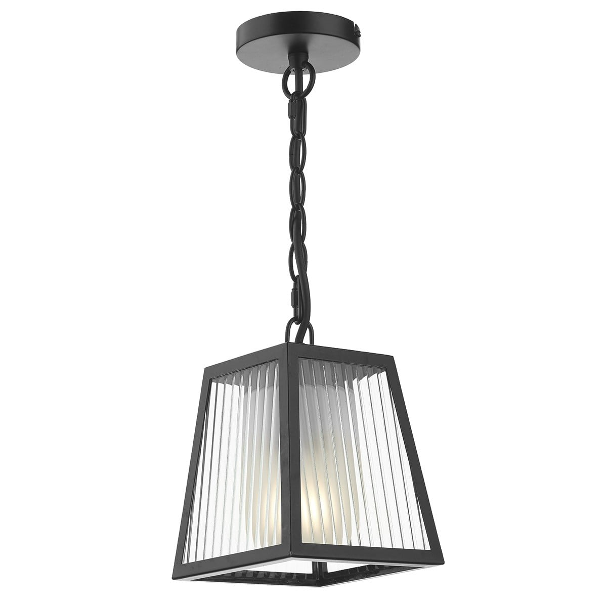 Dar LIM0122 Limassol Outdoor 1 Light Pendant in Black