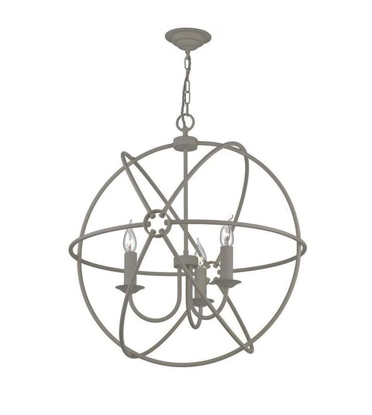 David Hunt Lighting ORB0339 Orb 3 Light Pendant in Ash Grey Finish