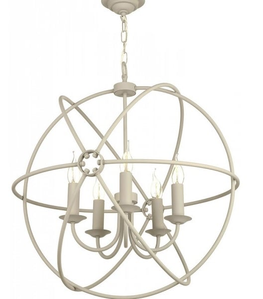 David Hunt Lighting ORB0533 Orb 5 Light Pendant in Cream Finish