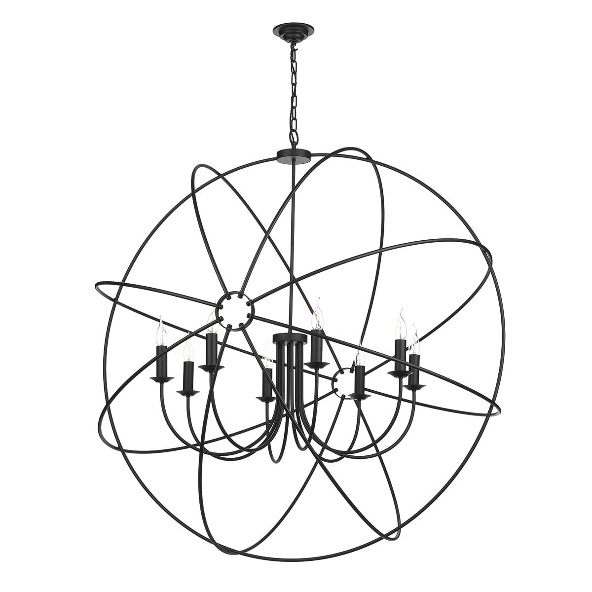 David Hunt Lighting ORB0822 Orb 8 Light Pendant in Black Finish