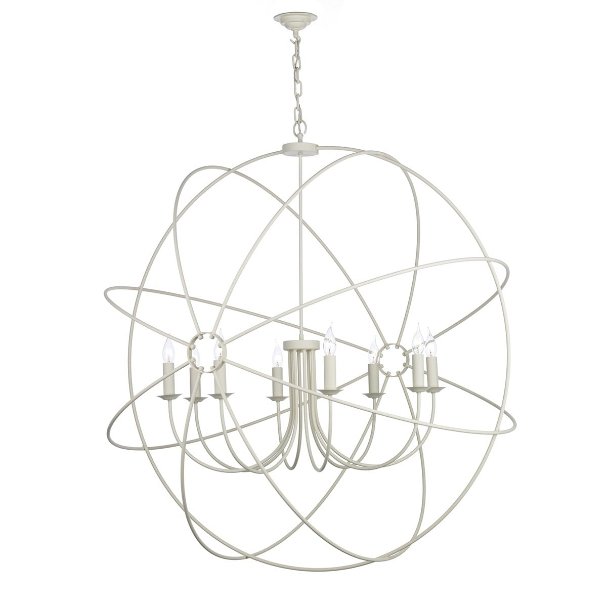 David Hunt Lighting ORB0833 Orb 8 Light Pendant in Cream Finish