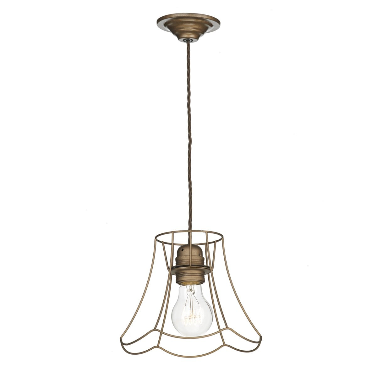 David Hunt Lighting ORE0163 Oregon 1 Light Small Pendant in bronze