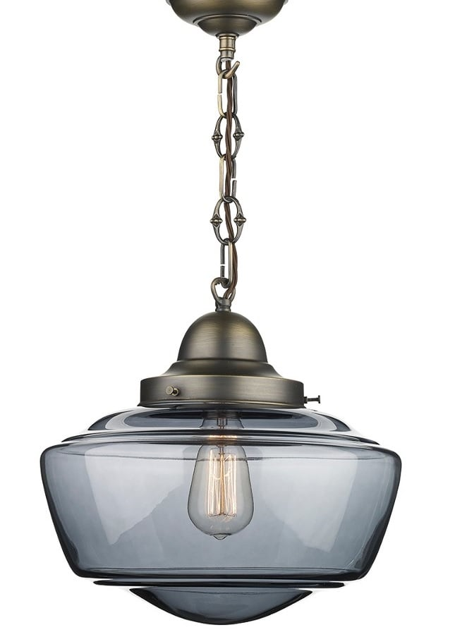 David Hunt Lighting STO0110 Stowe 1 Light Pendant with smoked glass