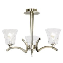REQUINTO-3AB Requinto 3 Light Semi Flush in Antique Brass