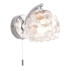 55160 Lawcross Bathroom Single Wall Light in Polished Chrome