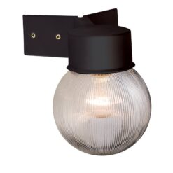 61241 Ware Outdoor Corner Wall Light in Black