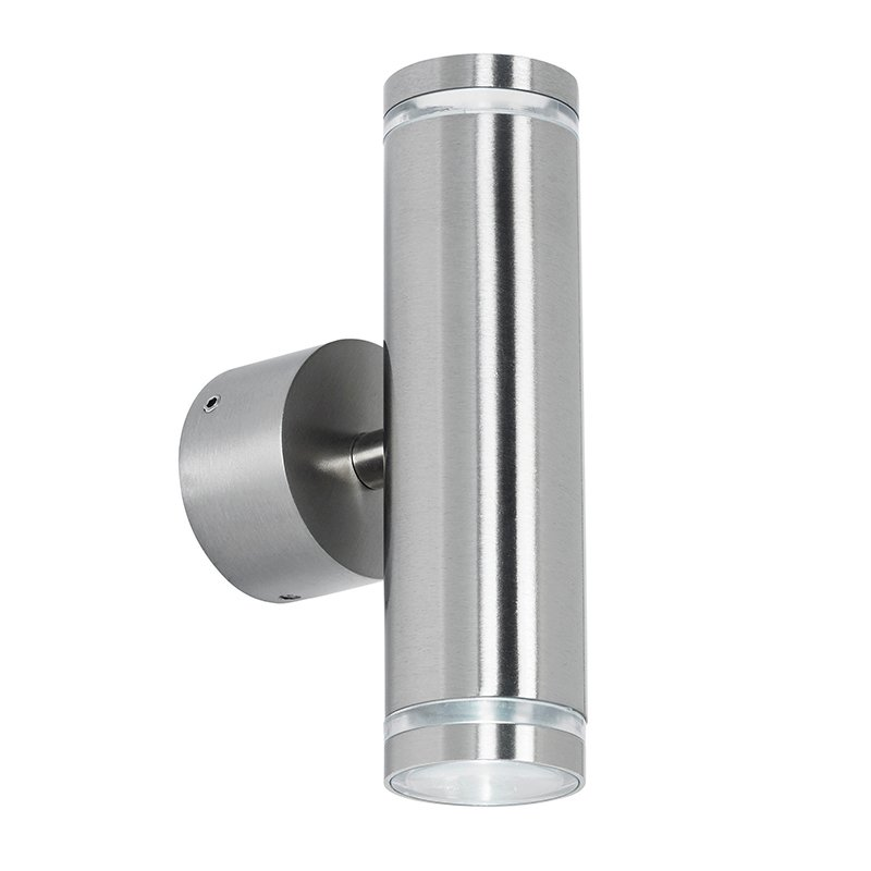 Stainless Steel Wall Lights Outside : EL-40080 Picant Outdoor LED up & down Wall Light in Stainless Steel Lighting Bug Swindon