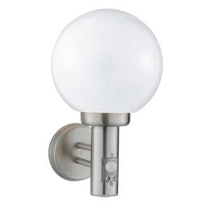 085 Globe Satin Silver Outdoor Wall Light