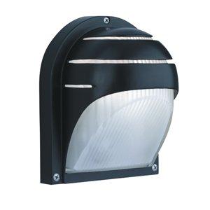 1106BK Black Aluminium Half Moon Outdoor Light
