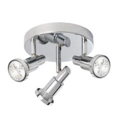 5343CC Torch 3 Chrome Spotlight with Circular Ceiling Plate