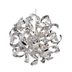 9812-12CC Curls chrome 12 light pendant