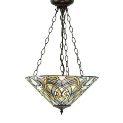 Dauphine 64052 Tiffany Medium Inverted 3 Light Pendant