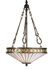 Fargo 64146 Tiffany Medium Inverted 3 Light Pendant Fitting
