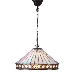 Fargo 64147 Tiffany Large 1 Light Pendant Fitting
