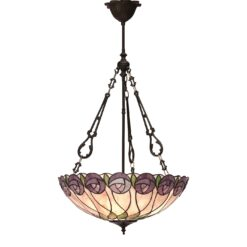 Hutchinson 64174 Tiffany Large Inverted 3 Light Pendant