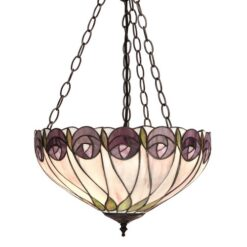 Hutchinson 64175 Tiffany Medium Inverted 3 Light Pendant