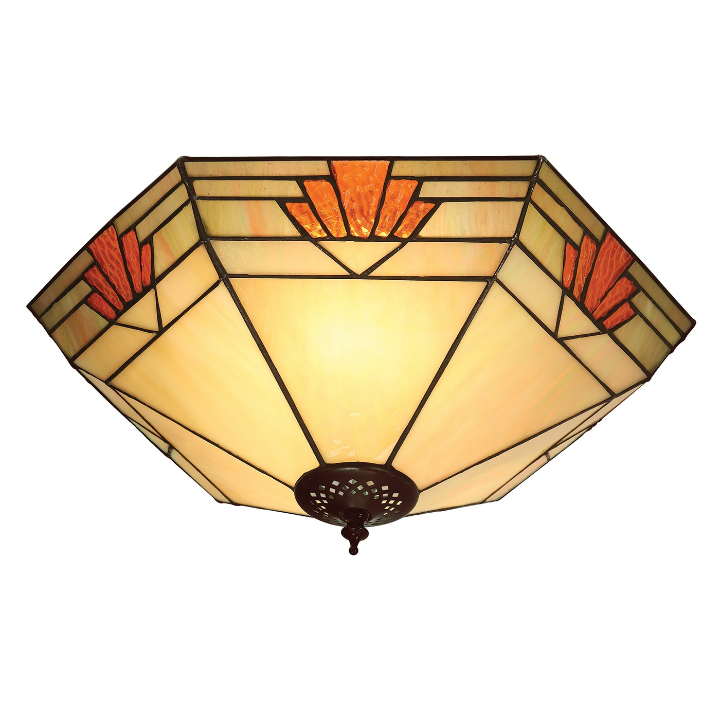 Nevada 64284 Tiffany Large 2 Light Flush Fitting Lighting Bug Swindon