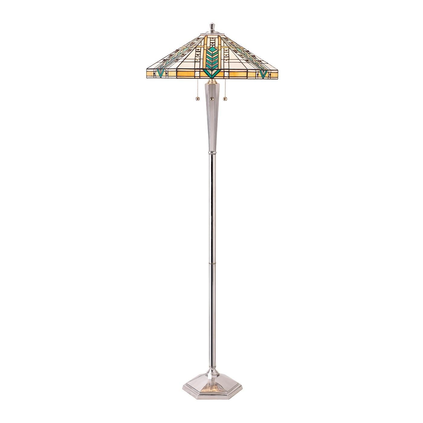 70663 tiffany down 3 light floor lamp aluminium lighting bug swindon. Black Bedroom Furniture Sets. Home Design Ideas