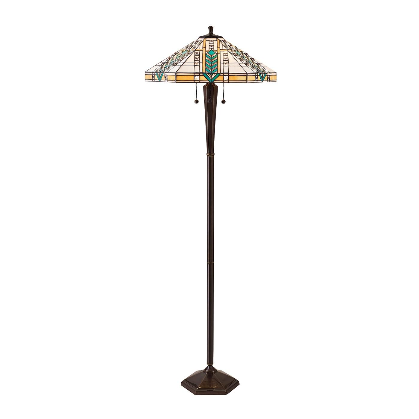 lloyd 70667 tiffany down 3 light floor lamp lighting bug swindon. Black Bedroom Furniture Sets. Home Design Ideas