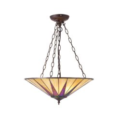 Dark star 70754 Tiffany Large Inverted 3 Light Pendant