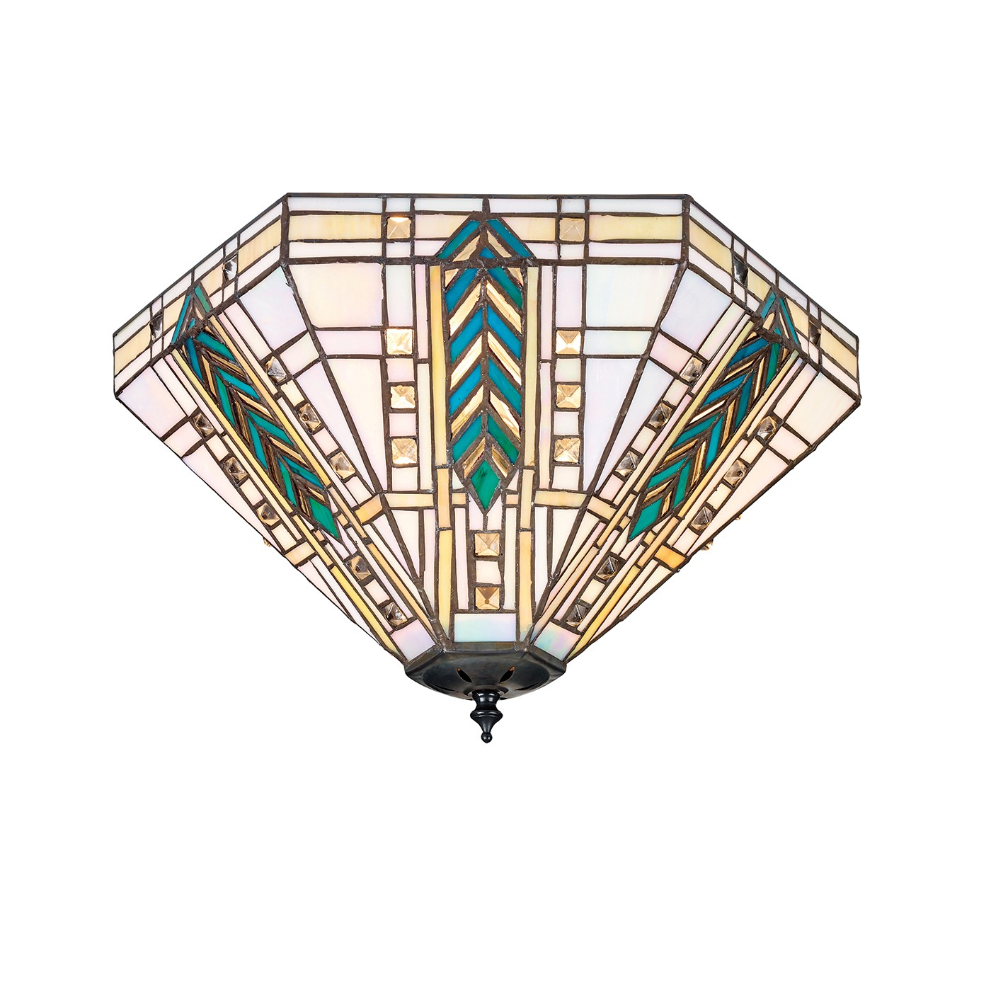 Lloyd 70667 Tiffany Down 3 Light Floor Lamp Lighting Bug