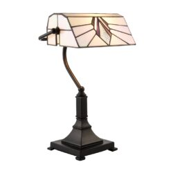 Astoria 70909 Tiffany  1 Light Bankers Table Lamp