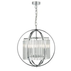 ABD0350 Abdul 3 light Pendant in Polished Chrome