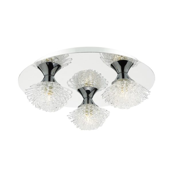 Dar ESM5350 Esme 3 Light Flush  in Chrome