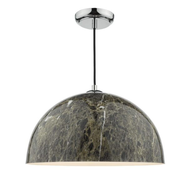 Dar GAN0129 Ganache 1 Light Pendant in Brown