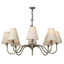 David Hunt Lighting HIC0875 Hicks 8 Light Pendant in Antique Brass (Fitting Only)
