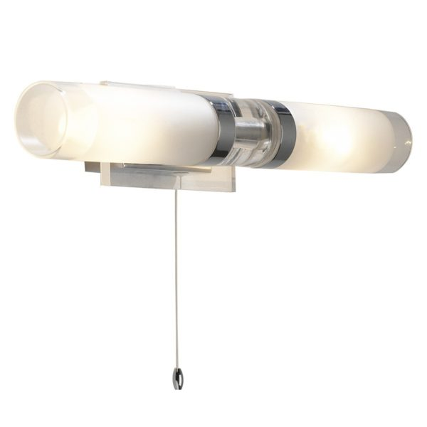 Dar REF0950 Reflex Barthroom Double Wall Light in Polished Chrome