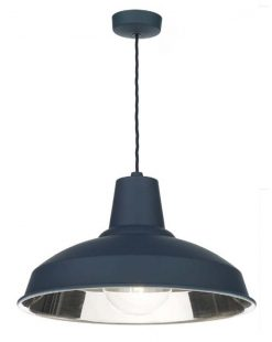 David Hunt Lighting REC0173 Reclamation Pendant in Smoke Blue