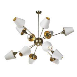 David Hunt Lighting SPU1240 Sputnik 12 Light Pendant in Brass Fitting Only