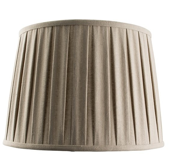 61351 Cleo 14 Inch Shade Tapered Pleated