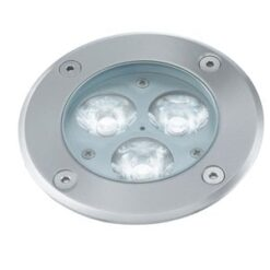 Searchlight 2505WH- LED Outdoor 3lt Outdoor, Chrome Brushed
