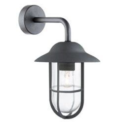 Searchlight 3291BK- Genoa 1lt Outdoor, Pewter