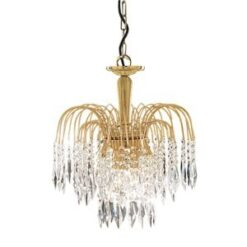 Searchlight 5173-3- Waterfall 3lt Multi Arm Pendant, Gold