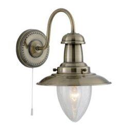 Searchlight 5331-1AB- Fisherman 1lt Wall Light, Chrome Polished