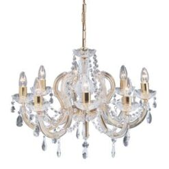 Searchlight 699-8- Marie Therese 8lt Multi Arm Pendant, Chrome Brushed