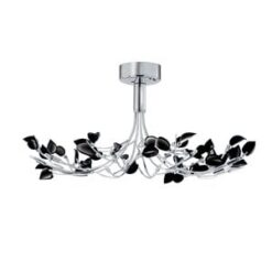 Searchlight 81510-10BK- Wisteria 10lt Semi Flush, Chrome Polished