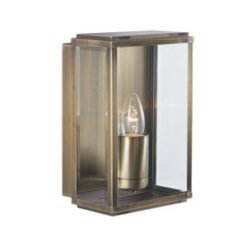 Searchlight 8204AB- Box 1lt Outdoor, Brass Polished